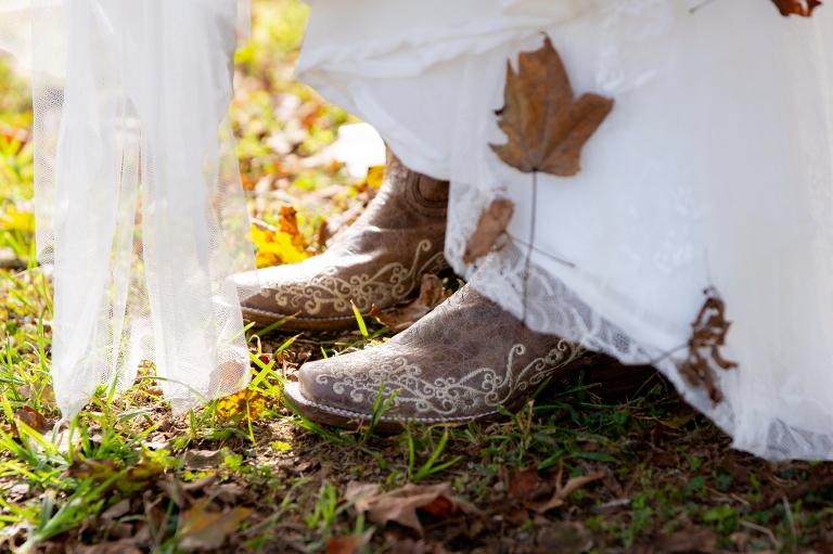 Boots leaf debris